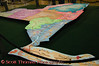 A colorful map of tourism regions in New York is on display in the Center of Progress building during the New York State Fair in Syracuse, New York.