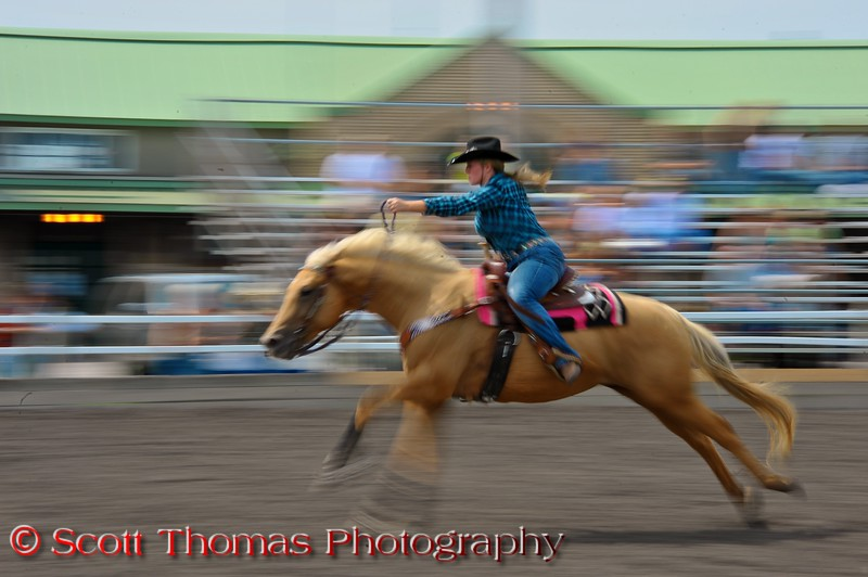 Qualifying for the 2011 New York State Barrel Racing Championship at The Great New York State Fair in Syracuse, New York.
