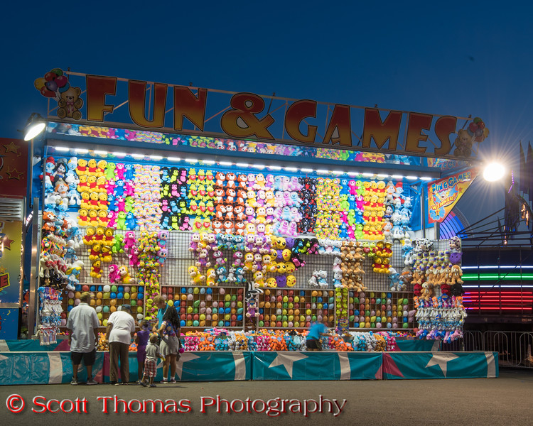 Fun & Games on the Midway at the New York State Fair near Syracuse, New York on Saturday, August 27, 2016.