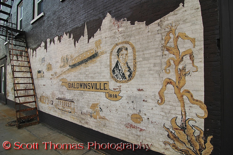 History mural for Baldwinsville, New York located at the Four Corners.