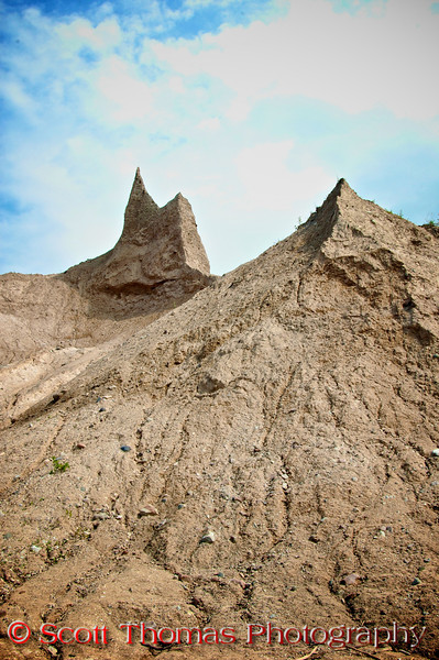Pinnacles in the Chimney Bluffs State Park near Sodus, New York.