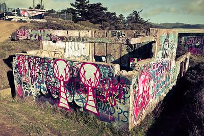 World War II bunker and ruins at Point Bonita