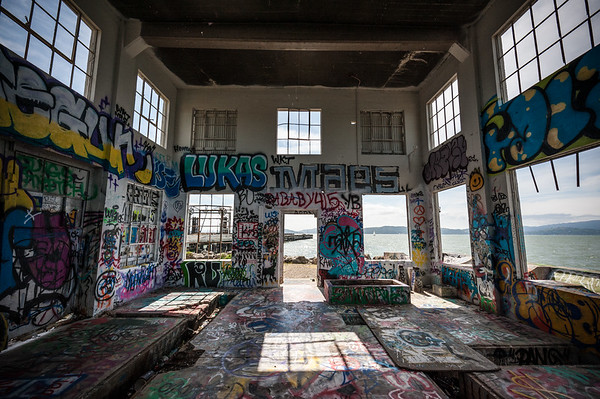 Abandoned Pump House, Ferry Point at Miller-Knox Park