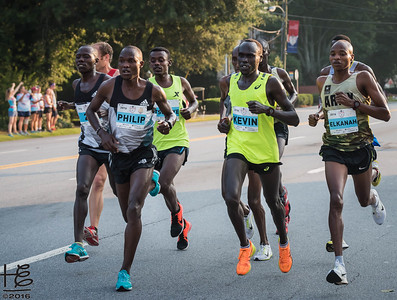 Group of elite runners