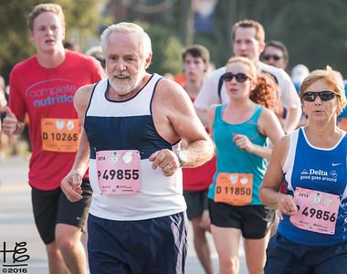Elder runner taking the lead