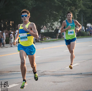 Two elite runners