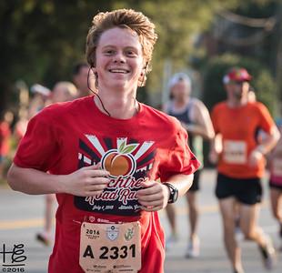 Happy young runner