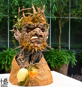 05-09-14 In the Fuqua Orchid Center there were lovely sculptures for each of the four seasons.  I believe this one relates to the fall.
