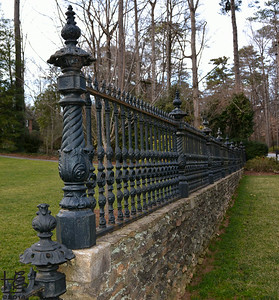 02-23-14 A decorative fence fronting a Habersham Road mansion.