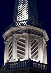 church steeple close-up