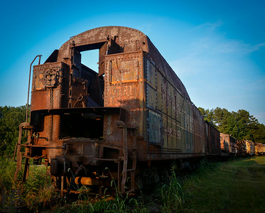 07-12-14  A rusted out train well beyond its useful life yet still radiant with its beauty.