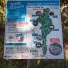 Trash Travels sign