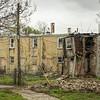 Row homes in disrepair