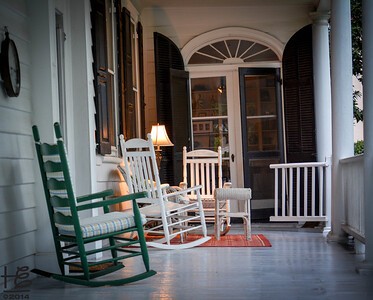 Front porch in historic district
