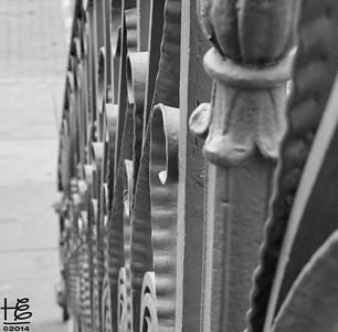 Ornate stairway railing