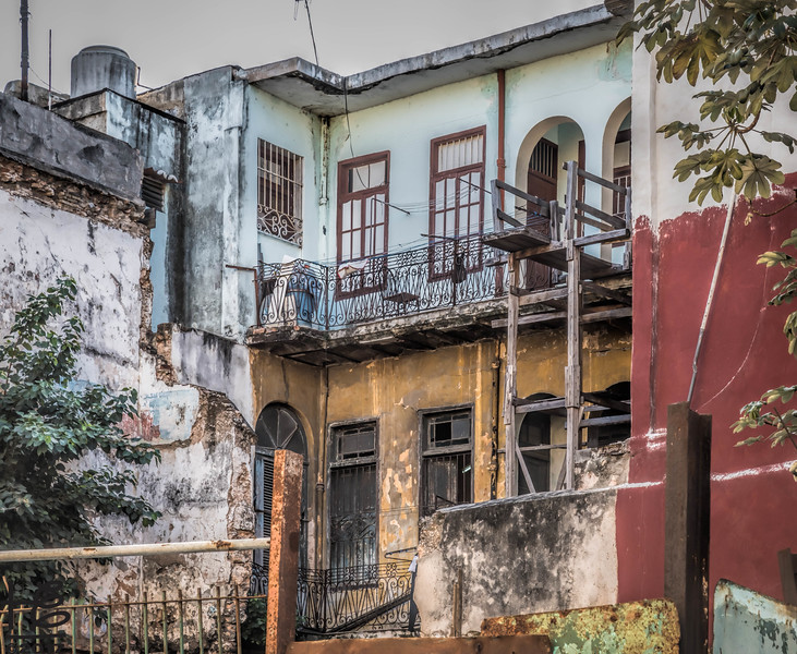 A home within a dilapidated building