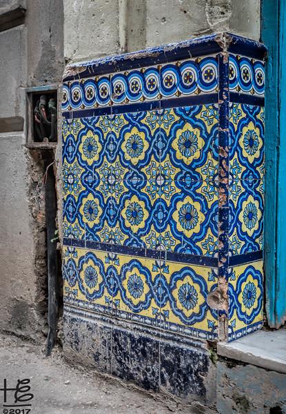 Remains of tile artwork