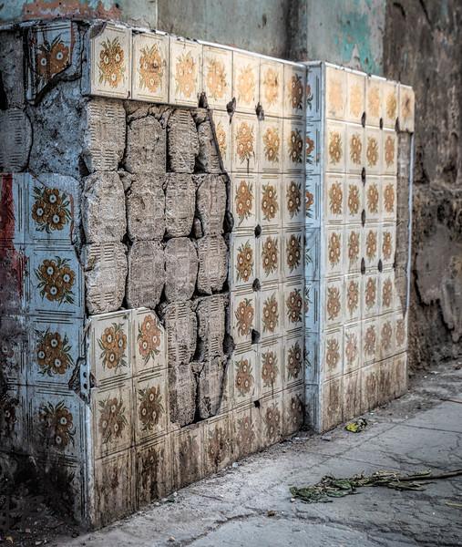 Old tile facade