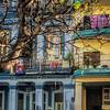 Colorful neighborhood buildings