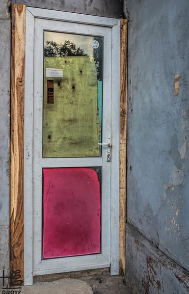 Colorful, eclectic door