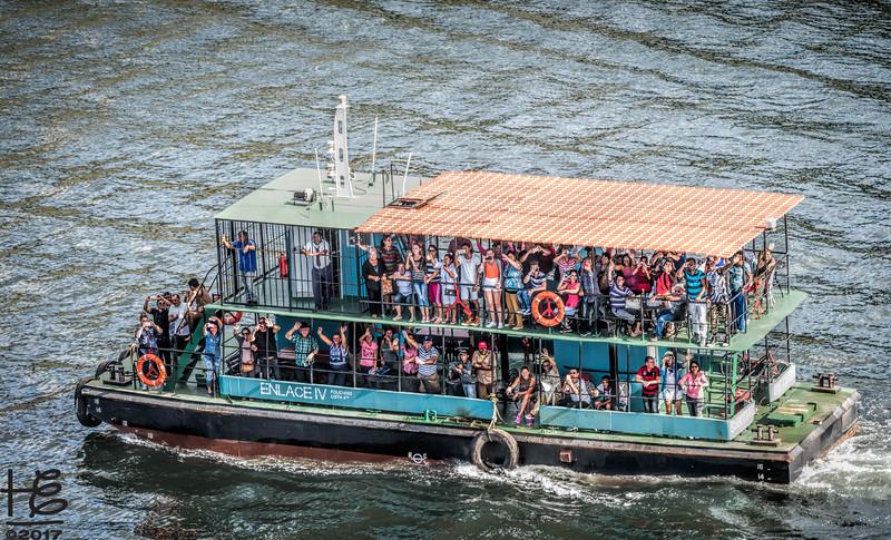 Local ferry in Santiago Bay
