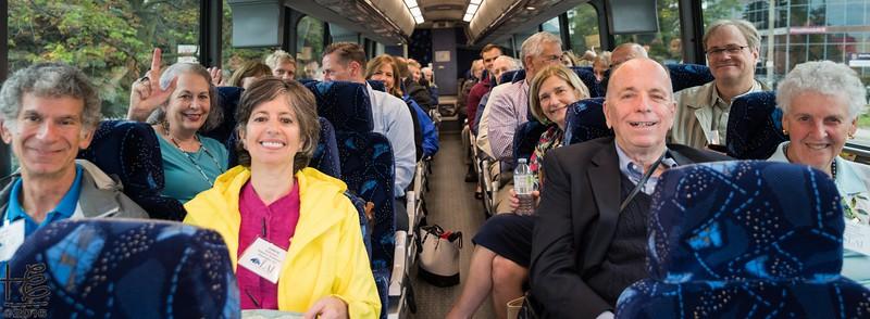 Bus tour group