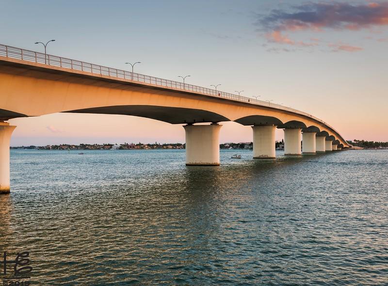 Bridge in golden light