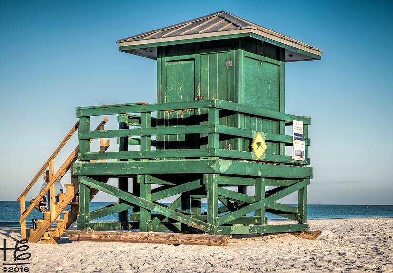 Siesta Beach lifeguard station