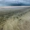 Flooded beach