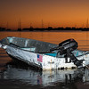 A dinghy at sunse