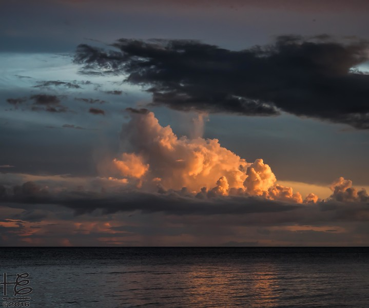 Clouds lit-up by sunset