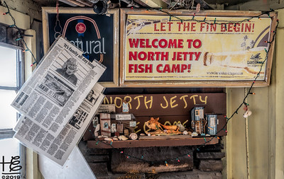 Sign in fish camp