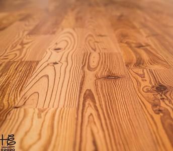 Recovered hard-wood floors