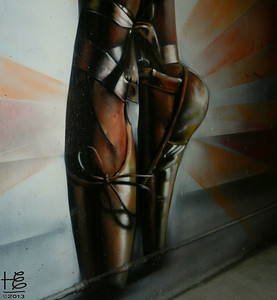 on pointe painting