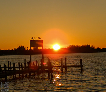 sunset w/ orbs