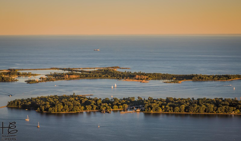 Sunset over Toronto Islands