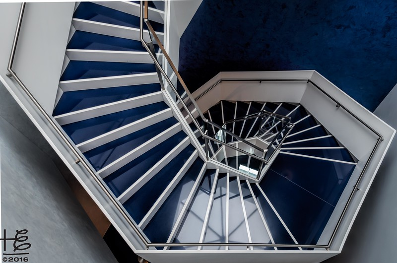 Aga Khan Museum - stairs from above