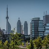 Corktown Common - city skyline