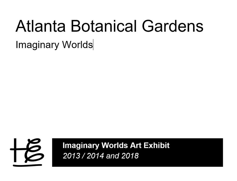 The popular 2013 | 2014 Imaginary Worlds plant art exhibit at the Atlanta Botanical Garden (ABG) made an encore performance May - October, 2018. For the 2018 exhibit, fourteen storybook-themed sculptures were created and installed by the International Mosaiculture of Montreal®.<br /> <br /> Steel forms are covered in soil-and-sphagnum moss and planted with thousands of meticulously groomed plants to create the spectacular artwork. <br /> <br /> Legacies from the original exhibit, the Earth Goddess, the Shaggy Dog and Frogs are permanent art installations at the ABG.