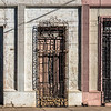 Series of old doorways