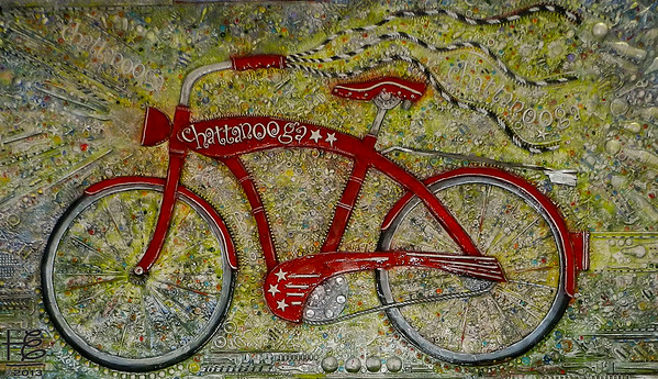 bicycle art in Chattanooga
