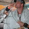 "David Laumeyer. Nothing says ""I just ran a half marathon,' like a shot of bourbon."