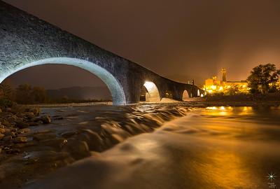 Ponte Gobbo by night 1, Bobbio. Emilia Romagna