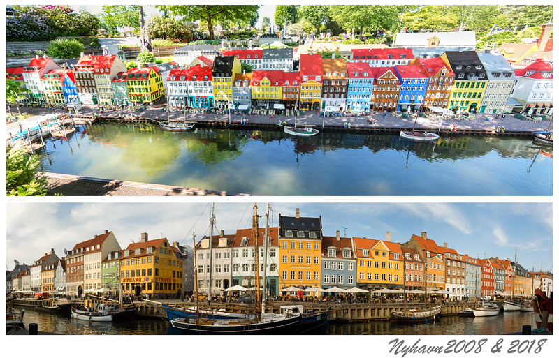 Nyhavn 2008 and 2018