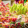 Christmas sweets. colored lollipops at Tallinn Christmas market