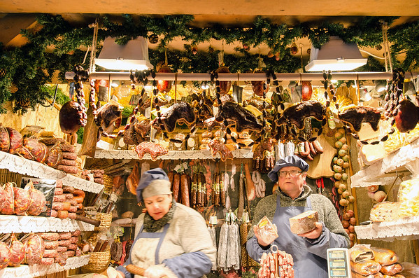 Christmas meat market at Tallinn