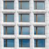 symmetrical grid of windows