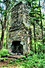 This chimney is the only part left of a house that burned down in Belding Woods, Vernon, CT.