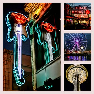 Collage of Seattle Night Life