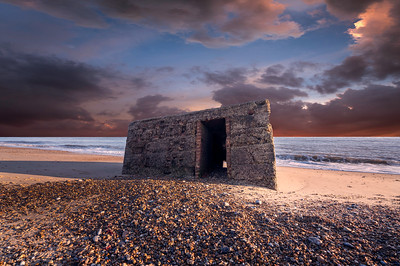 Pillbox on the Beach. By David Stoddart